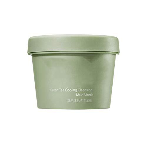 1/2 PCS Matcha Grüntee-Gesichtsmaske, Detox Grüntee-Gesichtsmaske mit Mitesserentfernungseffekten zur Tiefenreinigung und Porenreduzierung (1)
