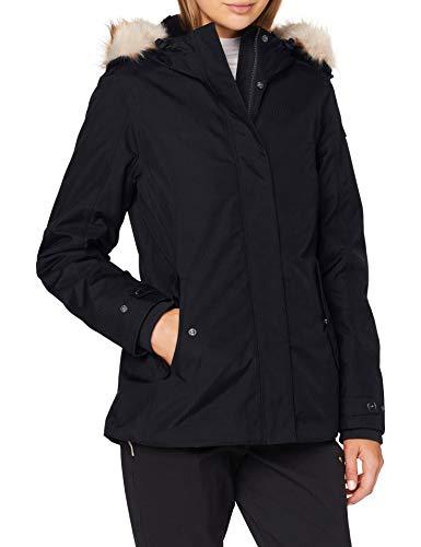 CMP Parka mit 3 m Wattierung Thinsulate Featherless Jacke für Damen, Damen, Jacke, 30K3876, Schwarz , 54