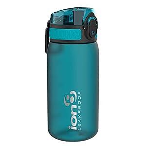 ion8 Botella Agua Niños Sin Fugas, Sin BPA, Monos, Aqua