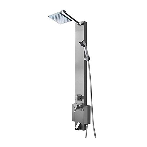Find Bargain Reno Fontana Hammer Stainless Steel Rainfall Shower Panel with Square Handheld Shower H...