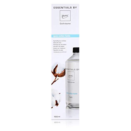 Essentails by Ipuro cotton fields Refill 1000ml Nachfüllflasche - Sanft, dezent und leicht pudrig mit einem Hauch von Vanille (1er Pack)