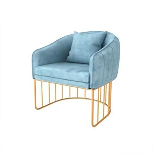 AI CHEN Fabric sofa seat single double triple living room curved light home iron sofa chair high elastic foam sponge dessert shop milk tea shop sofa table and chair combination