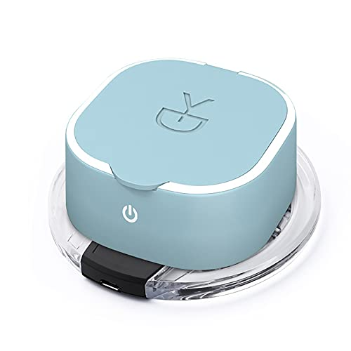QERNTPEY Contact Lens Cleaner Orthokeratology Lens Cleaning Machine Automatic Hard Contact Lens Cleaning Machine Cleaning Instrument Occupies Less Space (Color : Blue, Size : One Size)