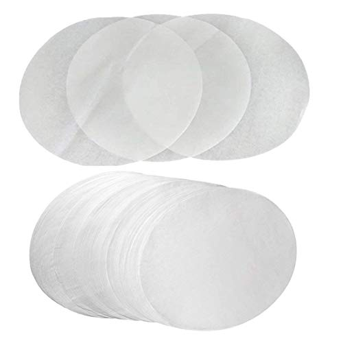 (Set of 100) Parchment Paper 10 inch Diameter Round Non-Stick Baking Paper Liners Cake Pans Circle Cookies Cheesecake Deep Dish Pizza