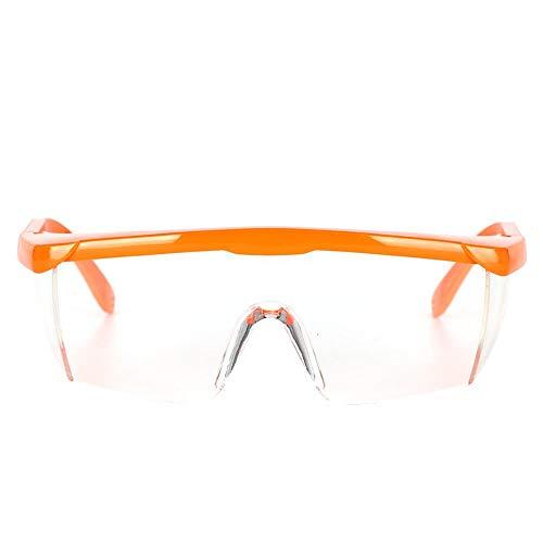 Draagbare veiligheidsbrillen, nail art, uv-bril, UV-gel, nagel, stofverzameling, werk, stofdichte bril, uv, extreme anti-condens lensbril, beschermende oogbescherming(Oranje)