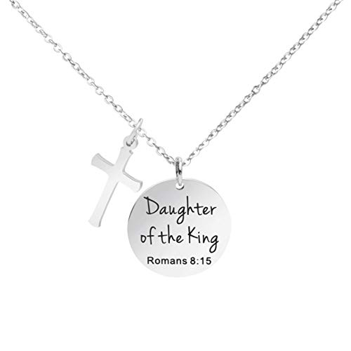Awegift Daughter of The King Jewelry Gifts Personalized Christian Necklace