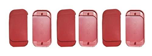 6x Ersatz Oberplatten mit Sollbruchstelle Typ K/E rot zur Fluchttürhaube GFS von MBS-FIRE®