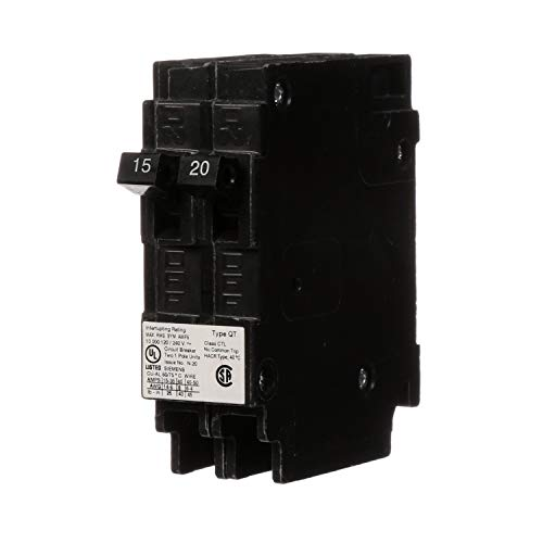 SIEMENS Parallax Power Components ITEQ1520 15/20A Duplex Circuit Breaker, 15/20 amp,Black
