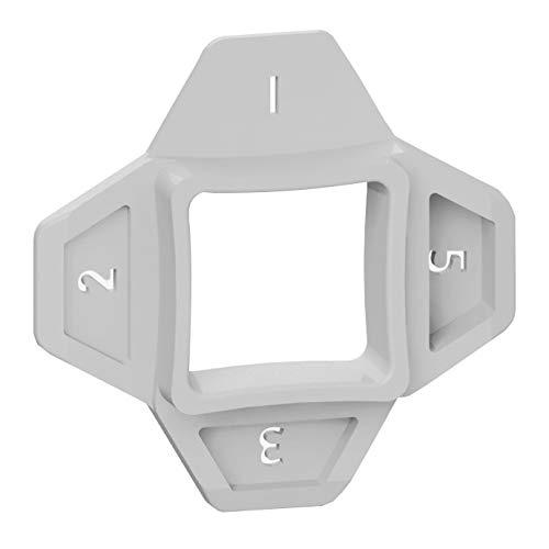 Fugenkreuze 4 in 1, Karl Dahm Fliesenabstandshalter,12735 Fliesenkreuze mit 4 Größen, 1-2-3-5 mm Fugenabstandshalter
