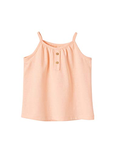 Vertbaudet - Camiseta de tirantes para bebé, diseño de rayas naranja fluorescente 6 Meses