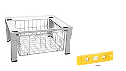 Metall Waschmaschinen-Untergestell, mit Schublade + Wasserwaage