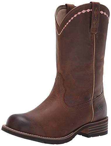 Ariat Women's Unbridled Roper Western Cowboy Boot, Distressed Brown, 8 M US