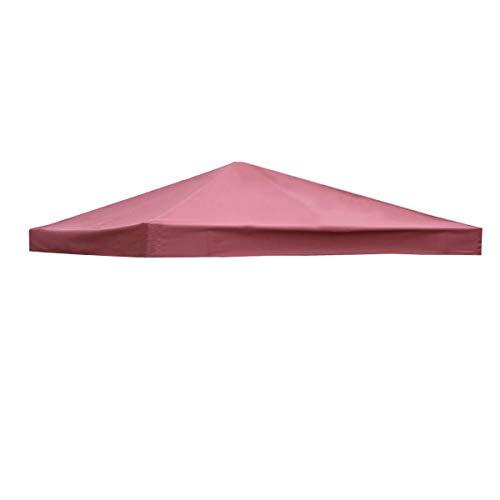 Costway Toile de Toit de Rechange en Polyester pour Pavillon Tonnelle Tente 300 x 300 cm Couleur au Choix (Vin Rouge)