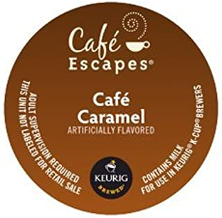 Cafe Escapes Cafe Caramel, K-Cup Portion Pack for Keurig Brewers (24 Count)