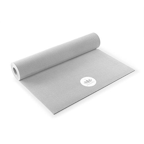 Lotuscrafts - Tapis de Yoga Oeko - Caoutchouc Naturel Biologique - antidérapant - idéal pour Le Yoga Ashtanga et Vinyasa Flow (Coolgrey)
