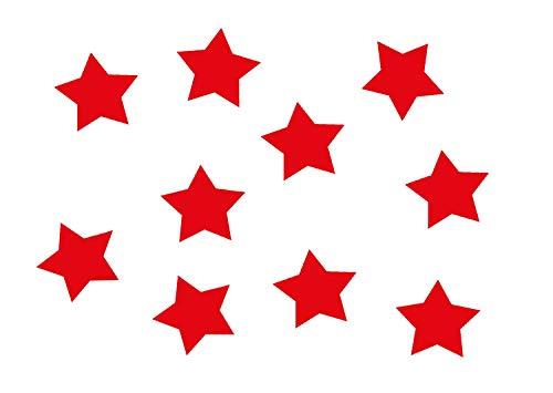 Miniblings 10x Transfert Tissu 25 mm étoile LISSE couleur I patches à repasser repassage, Color:rouge