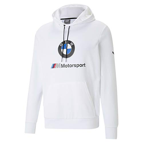 PUMA BMW M Motorsport Essentials Herren Hoodie Puma White S