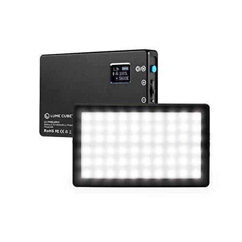 Lume Cube Bicolor Panel Mini LED Light for Professional DSLR Cameras | Adjustable Panel Mini, LCD Display | Photo and Video Lighting, Long Battery Life | Fits Sony, Nikon, Canon, Fuji, Panasonic