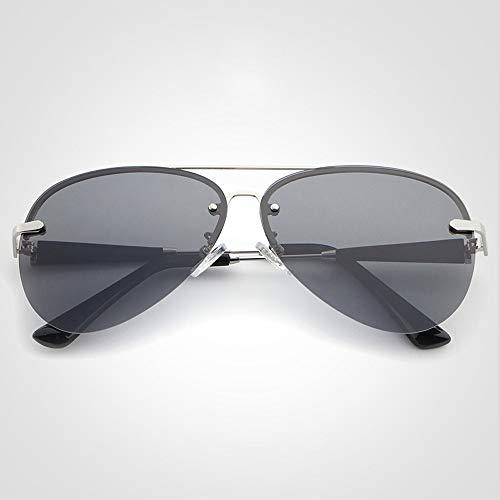 Sunglass Fashion Conductor de conducción Espejo Polarizador Moda Gafas de Sol Gafas de Sol Hombres Gafas (Color : 01Gray, Size : Free)