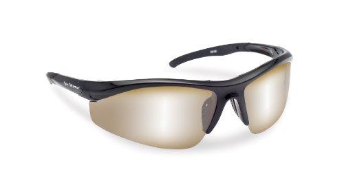 Flying Fisherman Spector Polarized Sunglasses (Black Frame, Amber/Silver Mirror Lenses)