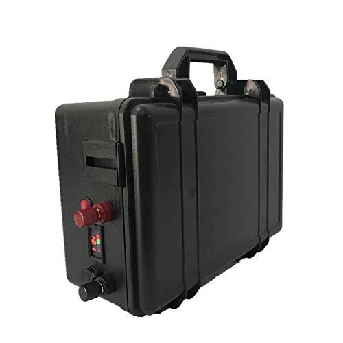 OANCO Paquete De Baterías De LIFEPO4 24V 100AH + Paquete De Batería De Litio Impermeable con Cargador 10A para Inversor,Sistema Solar,Motor De Barco