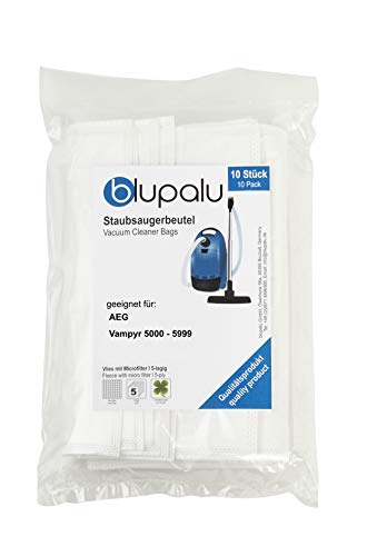 blupalu I Staubsaugerbeutel für Staubsauger AEG Vampyr 5000-5999 I 10 Stück I mit Feinstaubfilter
