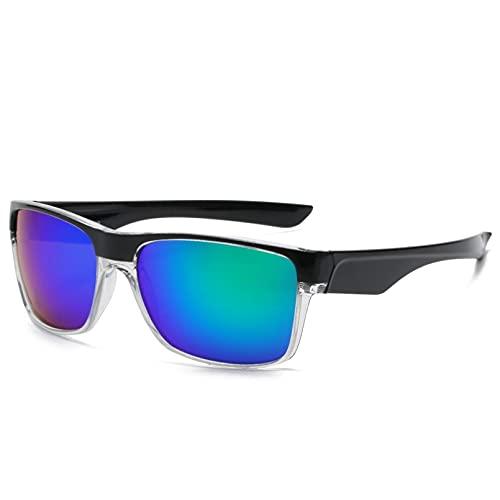 HHAA Gafas De Sol Deportivas Hombres Mujeres Unisex Gafas De Espejo Azul Rojo Gafas De Sol Deportivas Oculos Lentes