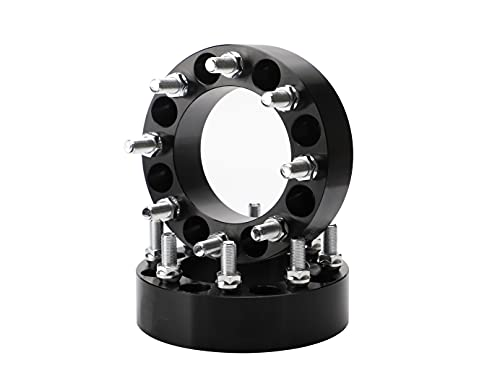Ryin 2PCS 8x170 Wheel spacers, 2 inch 8x170mm Wheel spacers 125mm Hub Bore with...
