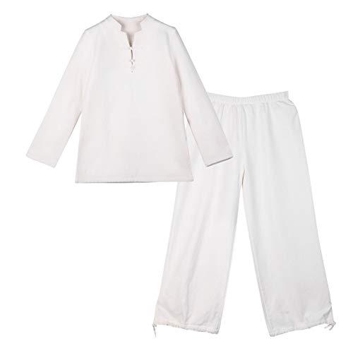 Tai Chi Anzug Chinesischer Stil Tang Anzug Herren chinesischer Retro Leinenmantel Zen Mönch Kleidung