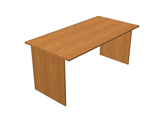 Ideapiu Scrivania Nero venato con Fianchi melaminico Desk with Panel Legs 1600 x 800 x 720h Sp./Thick. 22