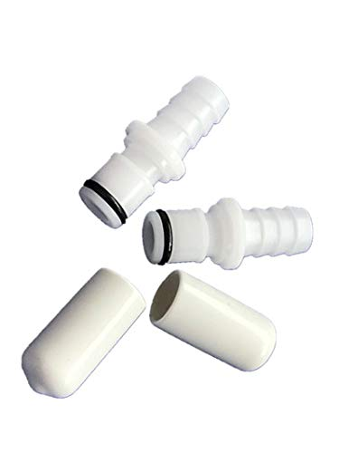 Buying Q Buying S Replacement 2 M236 Male Connectors + 2 Caps for Testing Sleep Number Bed Air Chamber leaks