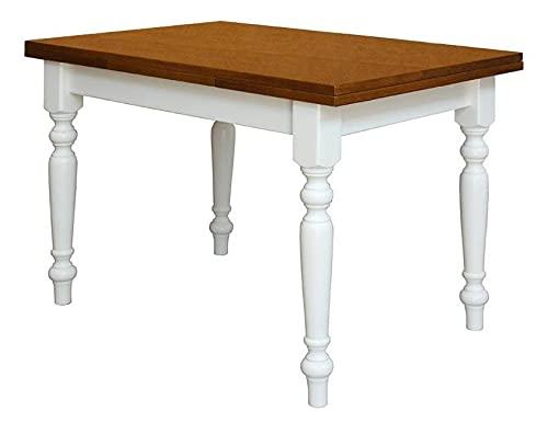 Arteferretto Table à Manger Bicolore Extensible 120-200 cm