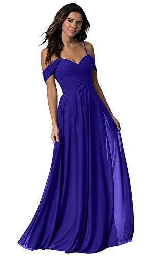 Off the Shoulder Blue Wedding Dress