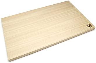 Yoshihiro Hinoki Cypress Japanese Natural Wooden Professional Grade Cutting Board (Large) Made in Japan
