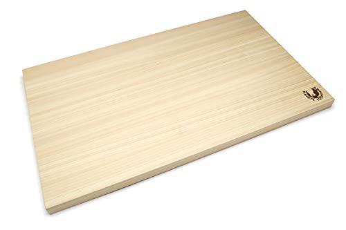 Yoshihiro Hinoki Cypress Japanese Natural Wooden Professional Grade Cutting Board (Medium) Made in Japan