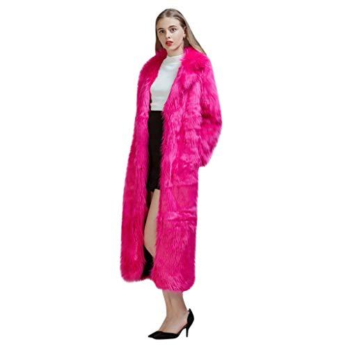 MMcloud Abrigos Mujer Largo Invierno Mujer Invierno Largos Abrigo Casual de Cordero de Lana Artificial Chaqueta de Lana Capa