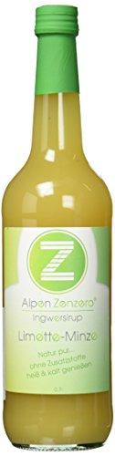 AlpenZenzero Ingwersirup - Limette/Minze, 700 ml