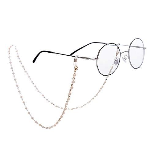 LUOSI Arte Callejero Mujer niña Hombre niño Gafas Nuevas Cadenas Titular De Imitación Perla De Cuentas De Las Gafas De Sol De Las Mujeres Gafas Cordones