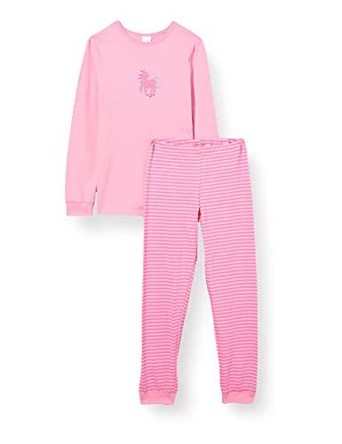 Schiesser Mädchen Langer Mädchen Schlafanzug Pyjamaset, Rosa, 116 EU