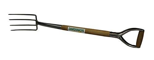 Jardinion Spatengabel, Kompostgabel, Mistgabel, Dunggabel Grau Gesamtlänge 98cm, Kopf 24x14cm - Mistforke, Heugabel