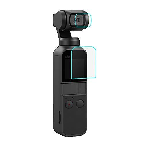 PULUZ Protetor de lente de vidro temperado HD + película de tela para DJI OSMO Pocket Gimbal