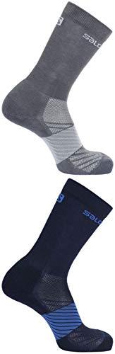SALOMON Unisex-Erwachsene Socks XA 2-Pack JR Shell-Jacke, Mehrfarbig, Mk