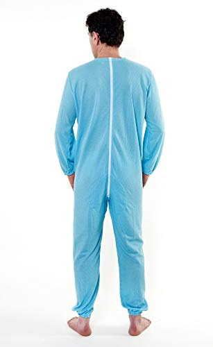 Grenouillère adulte Combinaison pyjama pour personnes âgées sanitaire ouverte derrière - Tissu indéchirable S