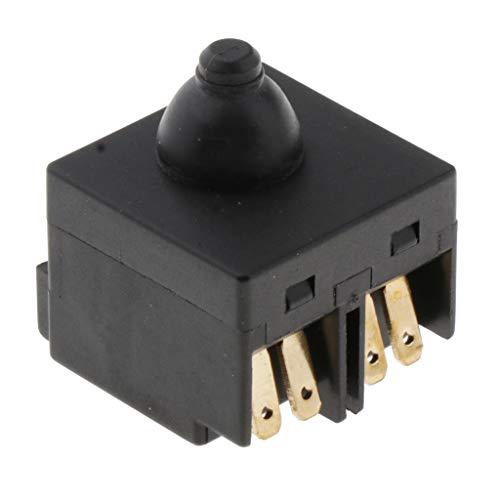Baoblaze Interruptor De Botón Negro Para Amoladora