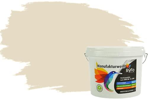 RyFo Colors Bunte Wandfarbe Manufakturweiß Vanillegelb 3l - weitere Gelb Farbtöne und Größen erhältlich, Deckkraft Klasse 1, Nassabrieb Klasse 1