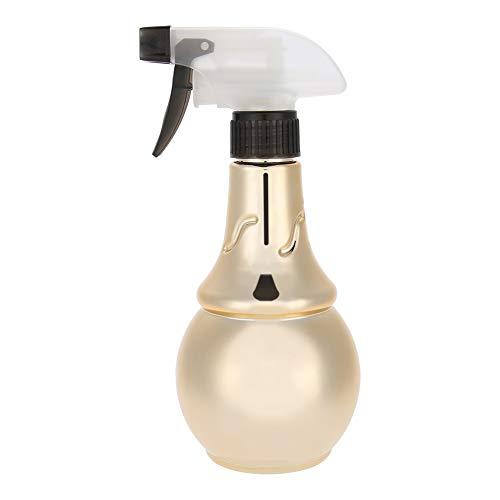 Botella de spray vacía de 2 colores, rociador de agua de peluquería recargable, botella de spray para barbero, herramienta de corte de pelo para productos de limpieza(Oro)