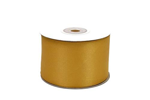 Creativery 25m Rolle Satinband 50mm (Gold 687H) // Schleifenband Deko Band Geschenkband Dekoration Hochzeit Taufe Geburtstag Dekoband einseitig 5cm