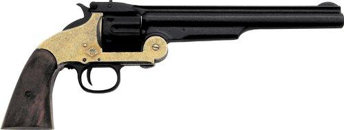 Denix 1869 Schofield Style Revolver, Brass and Black - Non-Firing Replica