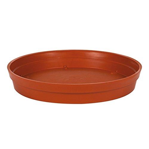 EDA Plastiques - Pot de Fleur - Soucoupe Ø18,5cm pour Pot de Fleur Toscane Pop Ø25cm - Potiron