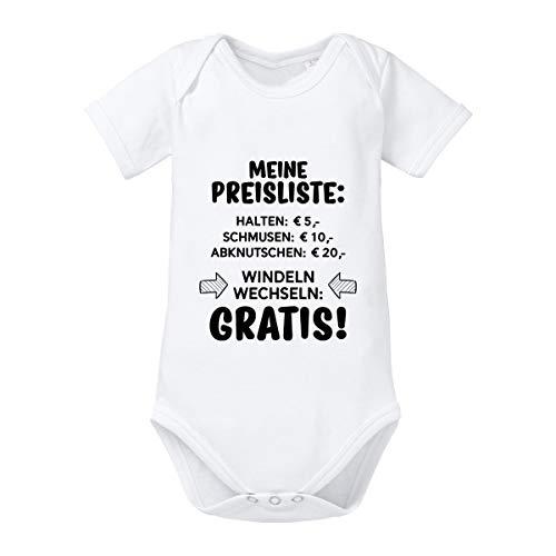 Herzbotschaft Babybody Modell: Meine Preisliste (3-6 Monate, weiß)